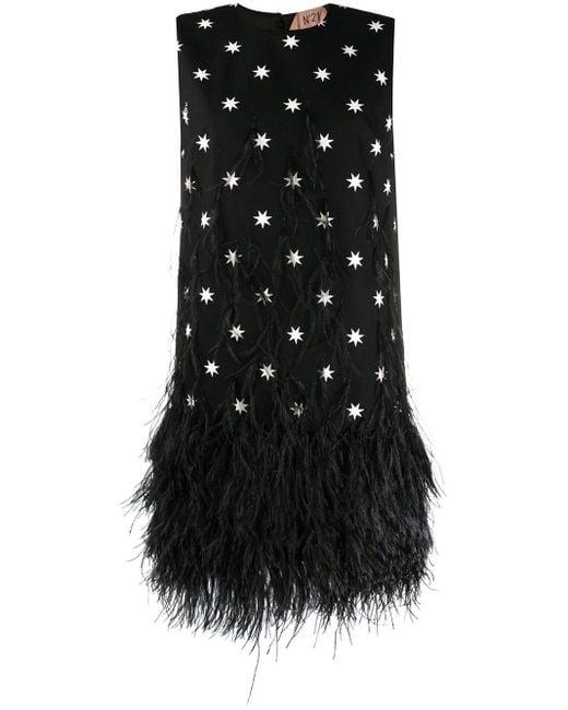 N°21 スタープリント ドレス Black