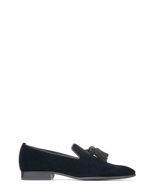 Jimmy Choo Black Tasseled Foxley Loafers for men
