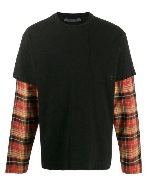 メンズ 1017 ALYX 9SM レイヤード ロングtシャツ Black