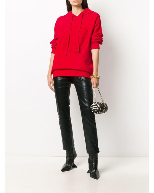 Versace メデューサ パーカー Red