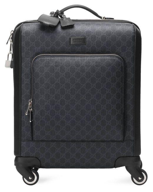 Gucci Black GG Supreme Suitcase for men