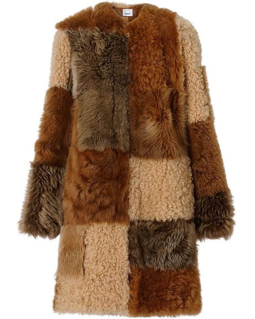 Burberry Lammy Coat in het Brown
