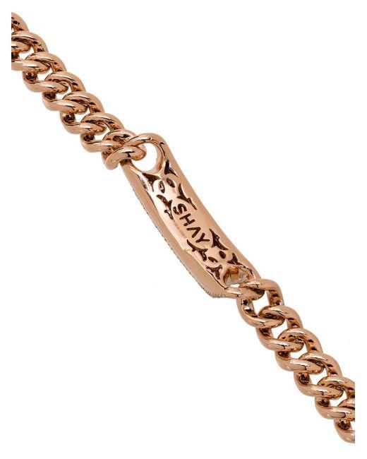 SHAY パヴェダイヤモンド ブレスレット 18kローズゴールド Metallic