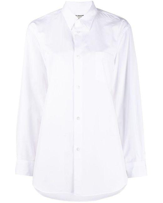 Junya Watanabe ロングライン シャツ White