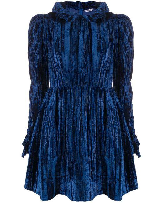BATSHEVA ラッフルトリム ミニドレス Blue