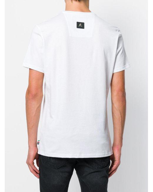 T-shirt imprimé Philipp Plein pour homme en coloris White