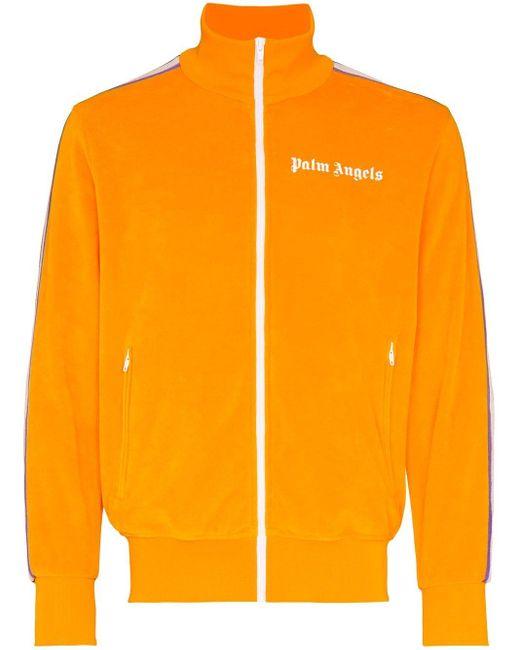 メンズ Palm Angels ロゴ トラックジャケット Orange