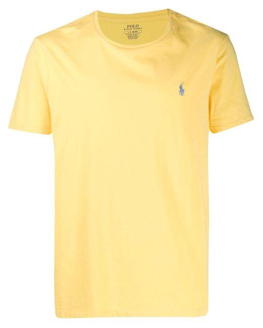 メンズ Polo Ralph Lauren ロゴ Tシャツ Yellow