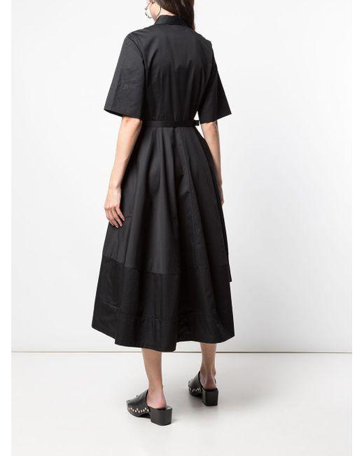 Robe-chemise à manches urtes Co. en coloris Black