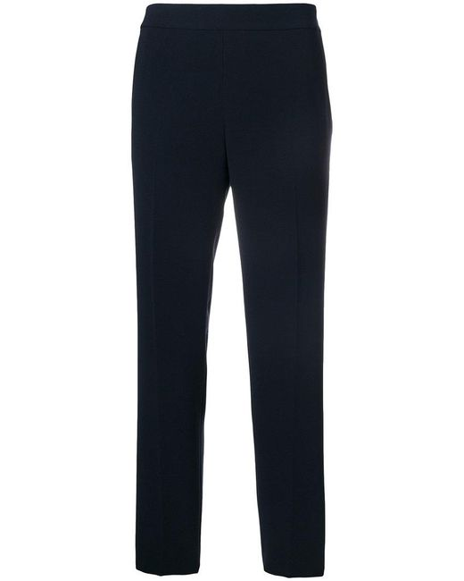 Alberto Biani | Blue Cropped Trousers | Lyst