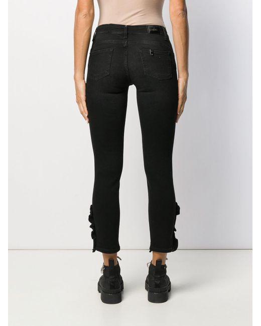 comprare on line af510 859b4 Women's Black Ruffle Hem Skinny Jeans
