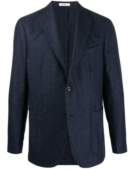 メンズ Boglioli スリムフィット ジャケット Blue