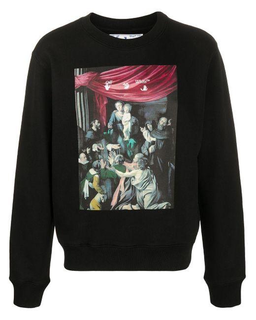 """Off-White c/o Virgil Abloh T-Shirt mit """"Caravaggio""""-Print in Black für Herren"""