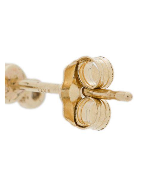 Золотые Серьги С Бриллиантами Zoe Chicco, цвет: Metallic
