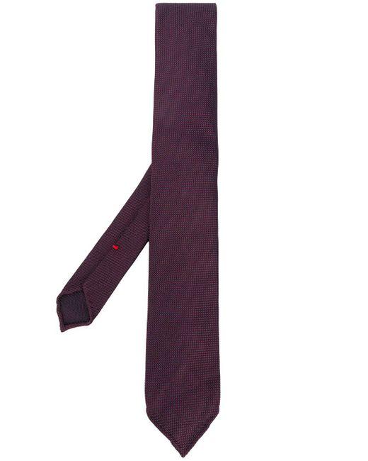 メンズ Dell'Oglio ジャカード ネクタイ Purple