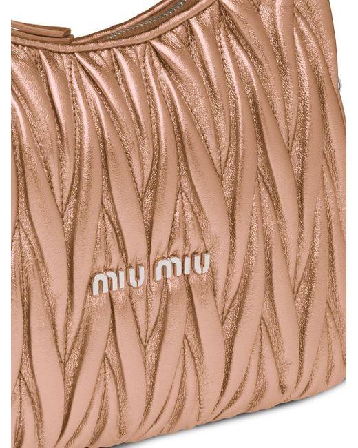 Miu Miu マテラッセ ショルダーバッグ Pink