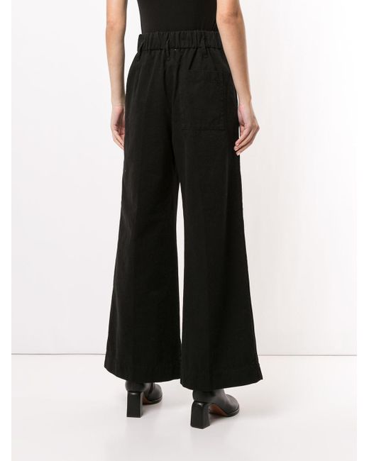 Forte Forte Black Elasticated-waist Straight Trousers