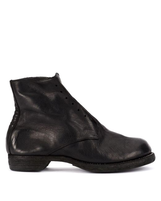 Guidi Black Slip-on Fitted Boots for men