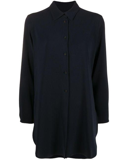 Alberto Biani ロングライン シャツ Blue