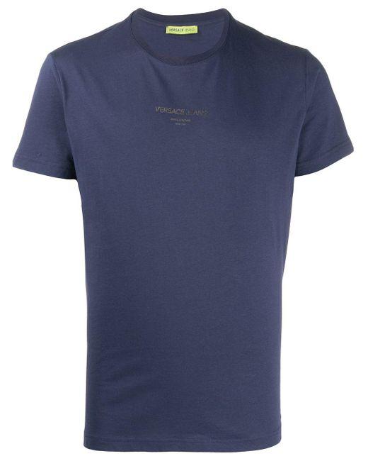 メンズ Versace Jeans ロゴプリント Tシャツ Blue
