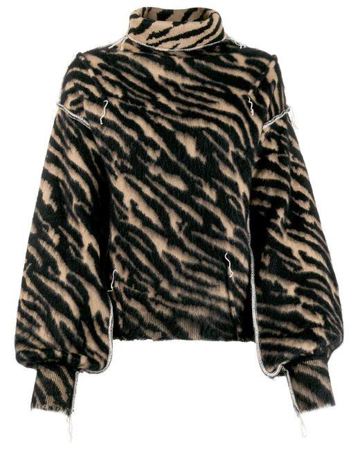 Unravel Project ゼブラストライプ セーター Multicolor