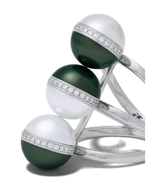Tasaki Balance Unite ダイヤモンド&パール リング 18kホワイトゴールド Multicolor