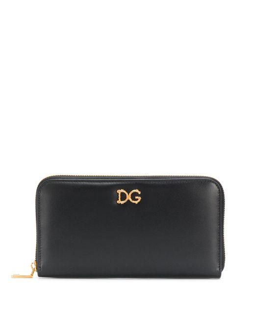 Dolce & Gabbana Dg バロッコ ファスナー長財布 Black