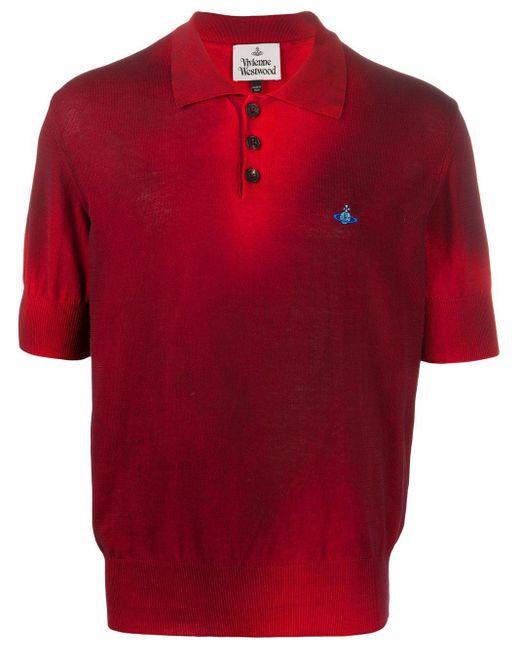 メンズ Vivienne Westwood ロゴ ポロシャツ Red