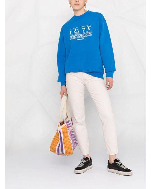 Sporty & Rich グラフィック スウェットシャツ Blue