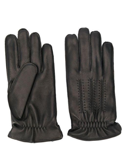 Gants à détails de surpiqûres Orciani pour homme en coloris Black