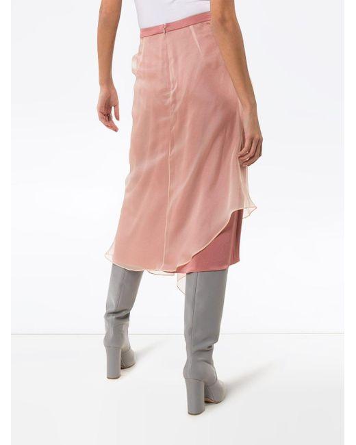 Sies Marjan チュール ミディスカート Pink