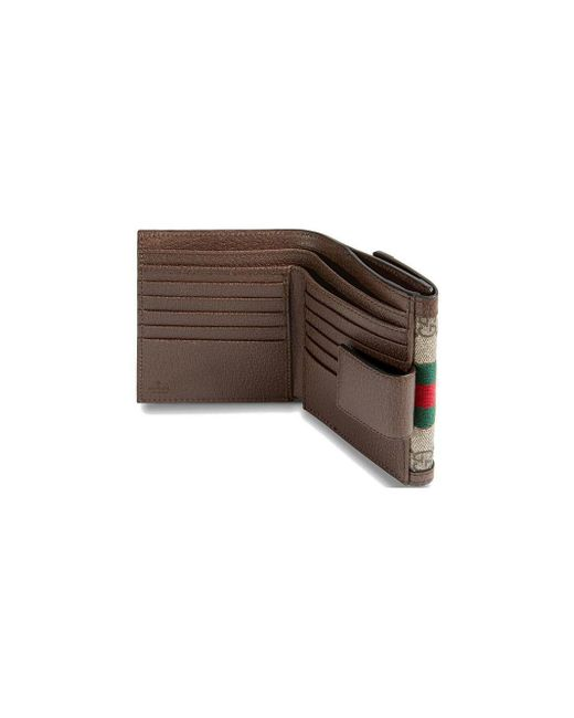 Ophidia GG French Flap Wallet Gucci, цвет: Brown