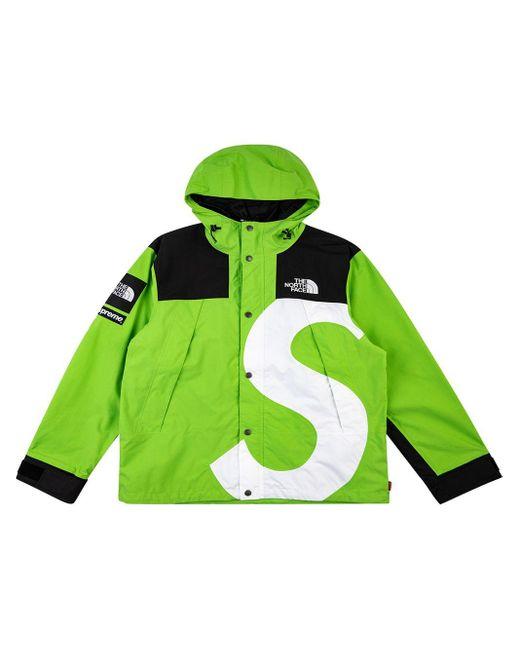 メンズ Supreme X The North Face ロゴ ジャケット Green