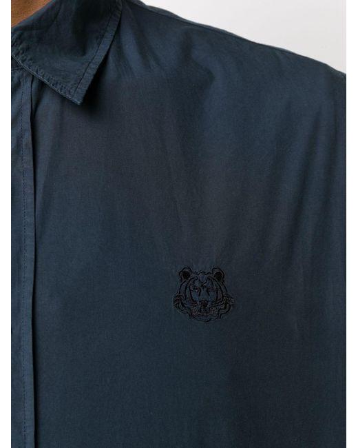 メンズ KENZO タイガー シャツ Blue