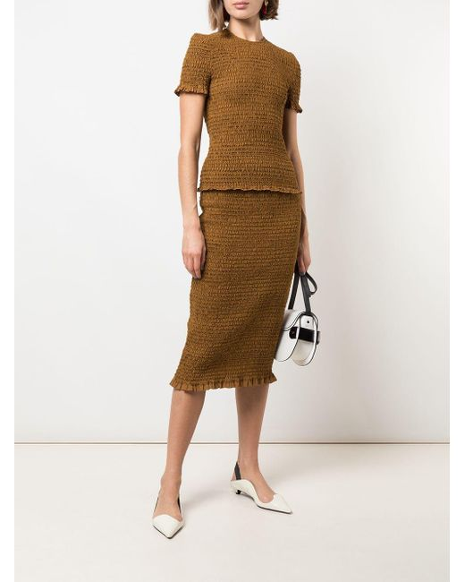 PROENZA SCHOULER WHITE LABEL スモック スカート Brown