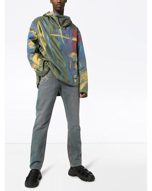 メンズ Martine Rose プリント ストレートジーンズ Multicolor