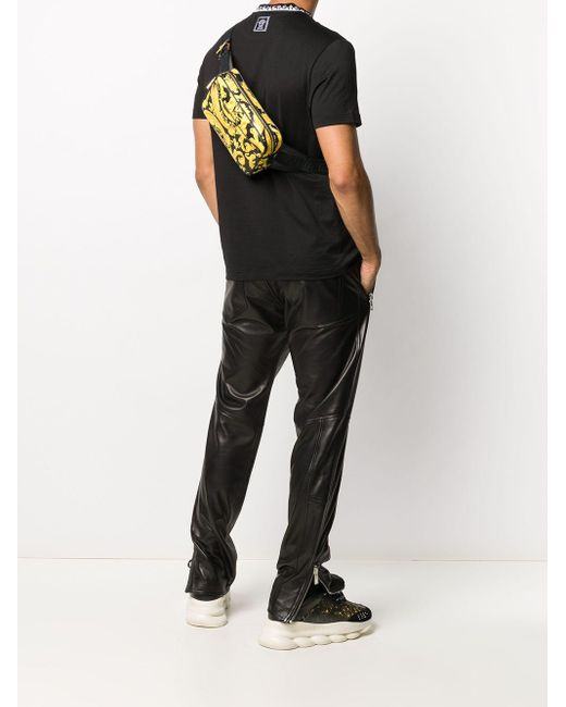 Поясная Сумка С Принтом Barocco Versace для него, цвет: Black