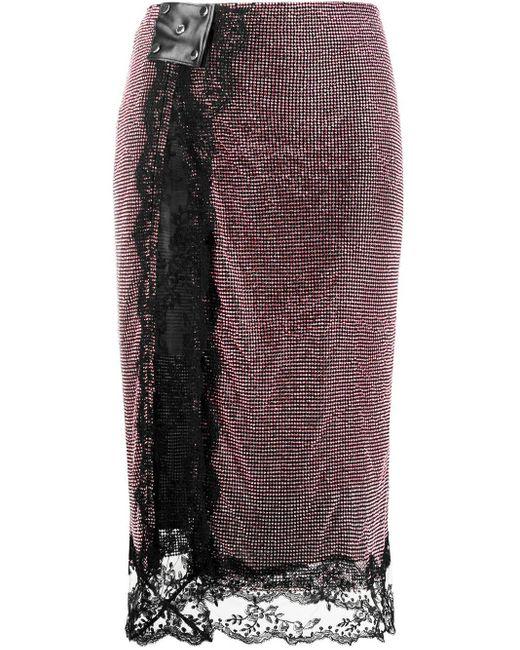 Christopher Kane ビジュー メッシュスカート Multicolor