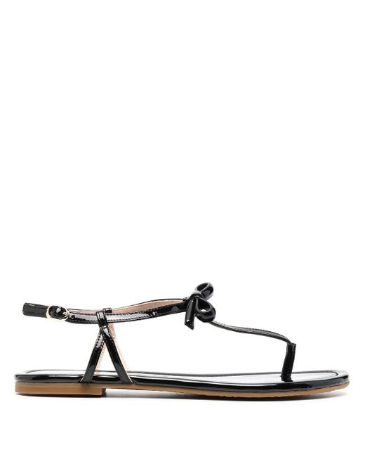 Kate Spade Black Strappy Leather Sandals