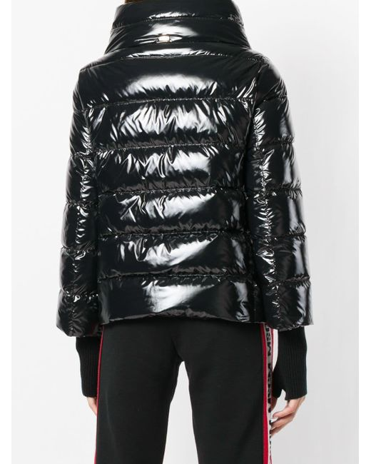 Shiny Padded Coat Herno, цвет: Black