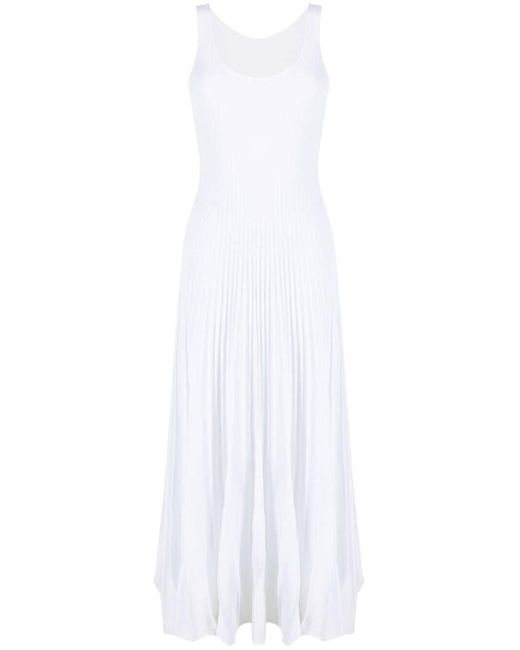 Vestido de punto de canalé P.A.R.O.S.H. de color White