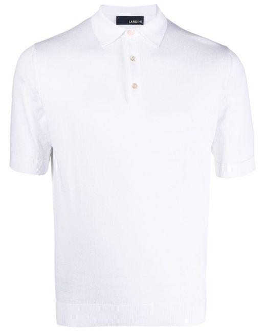 メンズ Lardini ショートスリーブ ポロシャツ White