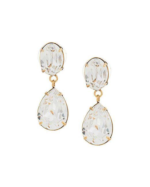 Jennifer Behr - Metallic Diamond Drop Earrings - Lyst
