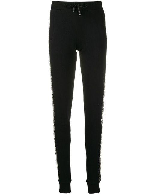 Philipp Plein Black Drawstring Track Trousers