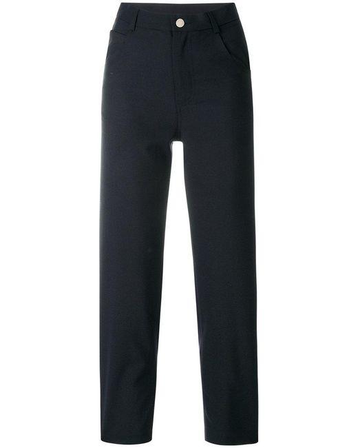 Roseanna - Blue Cropped High-waist Trousers - Lyst