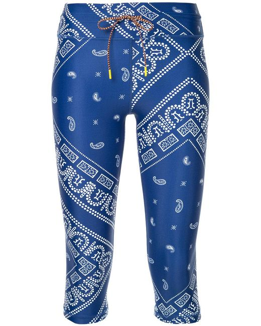 The Upside | Blue Cropped Printed Leggings | Lyst