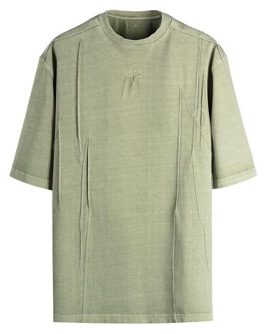 メンズ ADER ERROR ラウンドネック Tシャツ Green