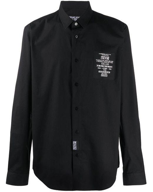 メンズ Versace Jeans ロゴ シャツ Black