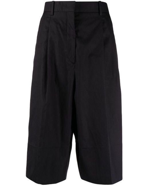 N°21 Black Wide-leg Shorts