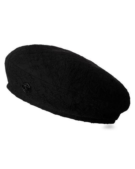 Maison Michel Flore ベレー帽 Black